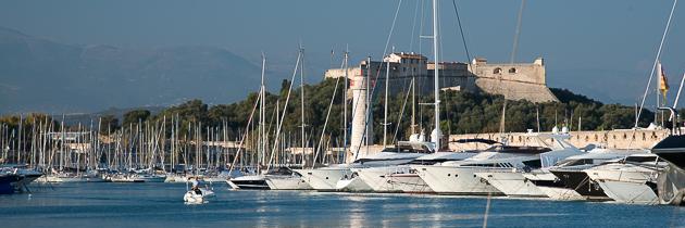 Antibes, le port et le fort carré