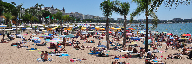 Cannes, Croisette beach - French Riviera