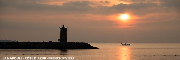 Lever de soleil sur le golfe de La Napoule, Cote d'Azur