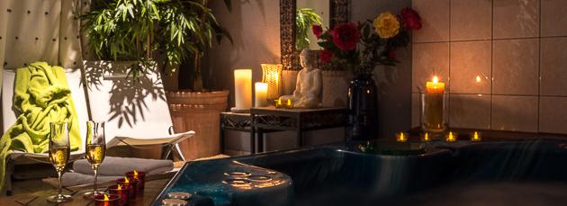 Ambiance relaxante au spa de la maison d'hôtes de La Coustille dans les Hautes Alpes