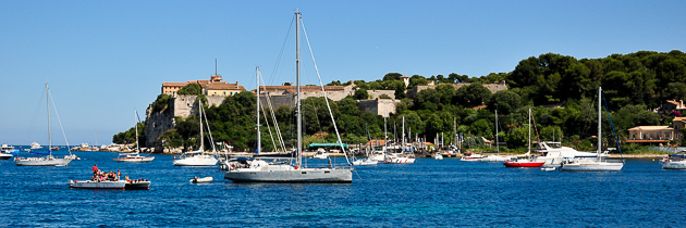 Sainte Marguerite Iles de Lérins facing Cannes and La Napoule - French Riviera