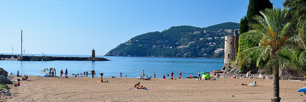 Beach of the castle, mandelieu la napoule, French Riviera